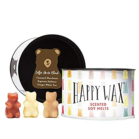 Bear Shapes Perfect for Mixing Melts in Your Warmer! Scented Soy Wax Melts 3.6 Oz Happy Wax Caramel Macchiato