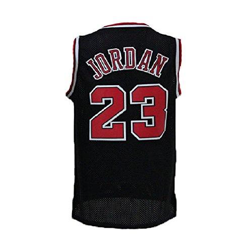 meetziis Men's #23 Basketball Jerseys Retro Jersey Black(S-XXL) (XL)