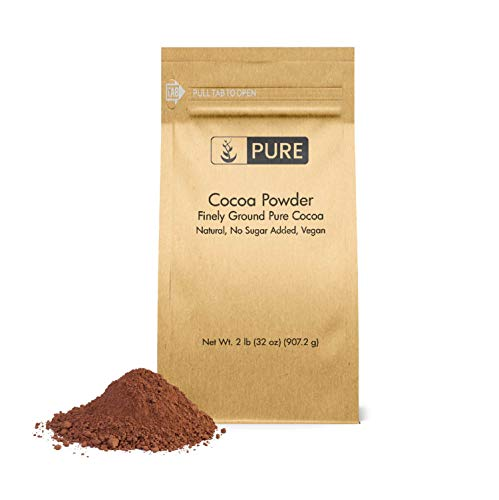 Cocoa Powder (2 lb) by Pure Organic Ingredients, Pure Cocoa, Baking Purposes, Flavor Enhancer, Skincare Benefits, Antioxidant-Rich, No Added Sugar (Also in 1 lb)
