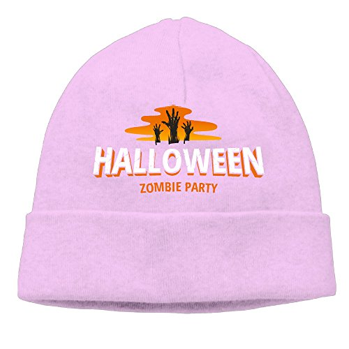 DHilary Halloween Warm Knit Beanie Skull Cap Cuff Beanie Hat Beanie Hat Pink - Pirate Tooth Cap With Skull