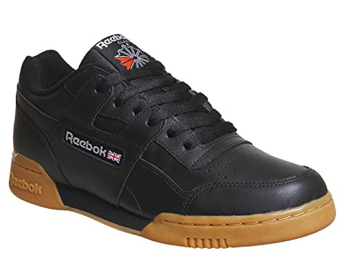 Reebok Herren Workout Plus Sneaker Mehrfarbig (Black/carbon/classic Red/reebok Royal-gum)