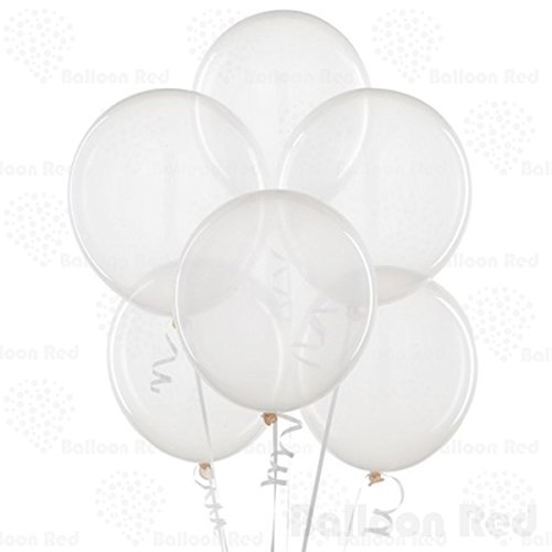 [12 Inch Latex Balloons (Premium Helium Quality), Pack of 100, Clear] (30 Second Costumes)