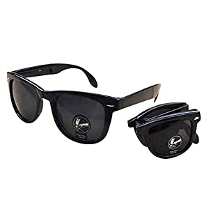 Lingstar Fashion Shatter-proof Folding Sunglasses Dazzling Sunglasses and Black Case