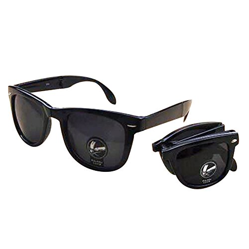 Lingstar Fashion Shatter-proof Folding Sunglasses Dazzling Sunglasses and Black - Sunglass Prada Mens Hut