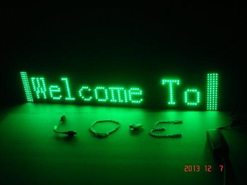 goLEDgocom LED Banner, Green color Moving Message sign, S...