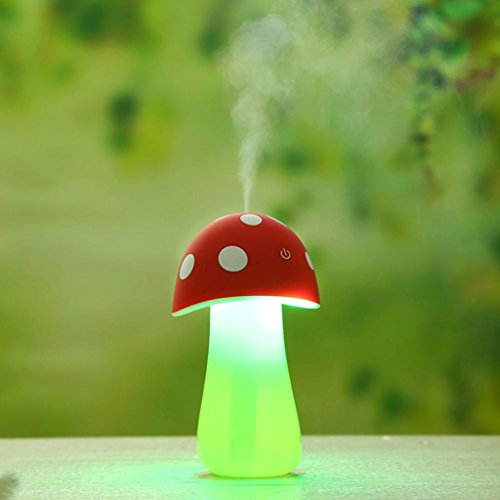 Gillberry Home Aroma LED Humidifier Mushroom Air Diffuser Purifier Atomizer New (Media Storage Set Armoire)