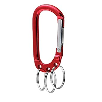 Amazon.com: Uxcell Rojo Clip Ring Enganche universal ...