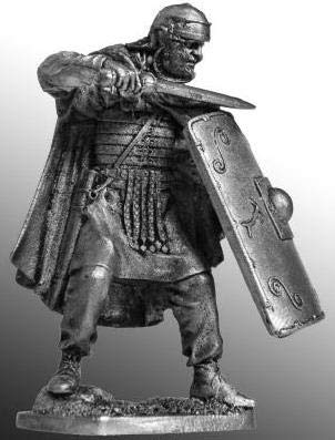 Roman Legionary, Tin Toy Soldiers Metal Sculpture Miniature Figure Collection 54mm (Scale 1/32) (54-40)