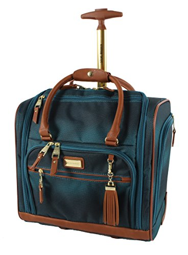 Steve Madden Luggage Wheeled Suitcase Under Seat Bag (Shadow Turquoise) (Best Swiss Boarding Schools)