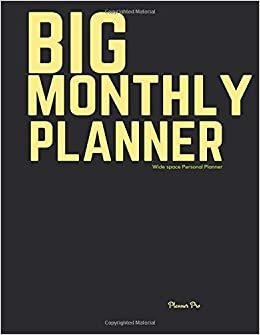 big large monthly planner wide space personal planner at a glance