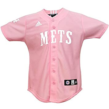 detailed look 4d0ad 3c51a Amazon.com : adidas MLB New York Mets Pink Youth Jersey ...