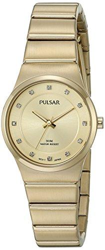 Pulsar Women's 'Jewelry' Quartz Gold-Toned Dress Watch (Model: PH8198)