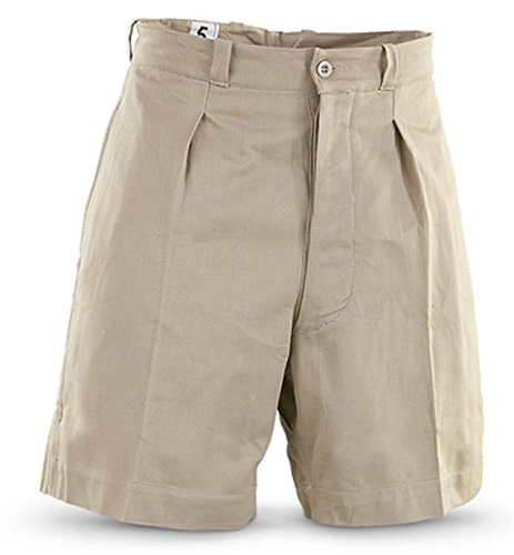 Military Outdoor Clothing Never Issued Medium 1950's Vintage Cotton French Khaki Shorts