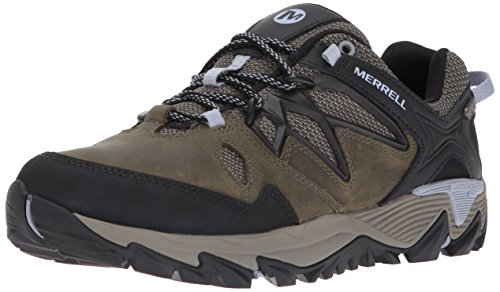 Merrell Women's All Out Blaze 2 Waterproof Hiking Shoe, Dark Olive, 7.5 M US by Merrell