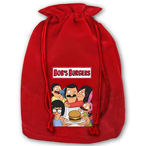 NELOHA Bags Santa Sack with Drawstring, Bob's Burgers Reusable Fabric Present Wrapping Bag