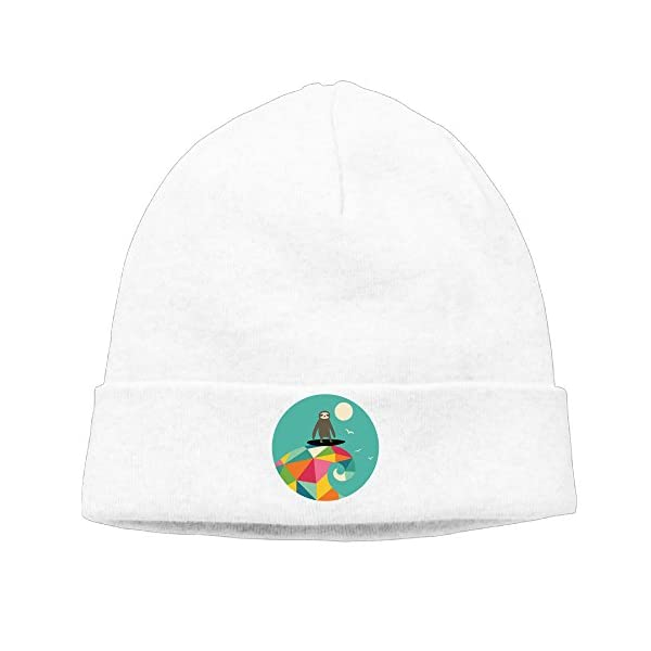 Sloth Stand Up On Mountain Unisex Oversized Baggy Caps Knit Beanie Hat -