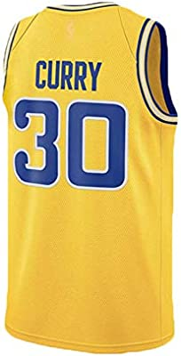 HSWU-DRESS NBA Golden State Warriors Stephen Curry # 30 Maillot De Baloncesto Hombre Tejido Transpirable Prensado Calor Maillot Deportivo Camisa Sin Mangas Chaleco Deportivo,Amarillo,XXL190*195CM: Amazon.es: Hogar