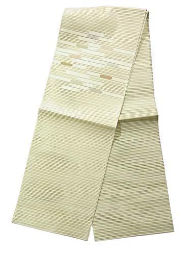 合法適用する所属八寸名古屋帯 夏物 絽 縞に楕円模様 正絹 開き仕立て
