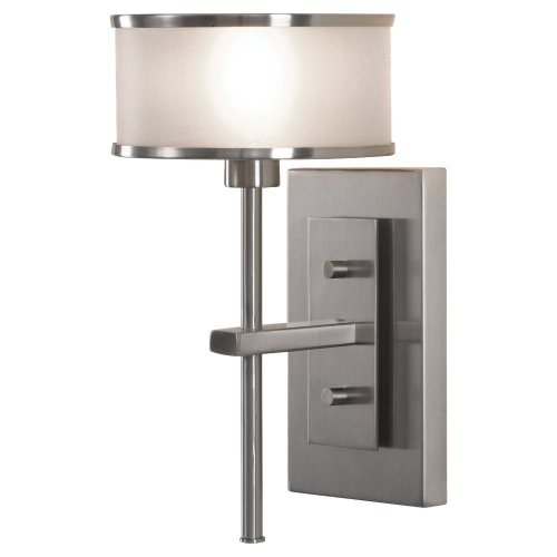 Sea Gull Lighting WB1378BS Casual Luxury One Light Wall Sconce, Brushed - Wall Luxury Casual Bracket