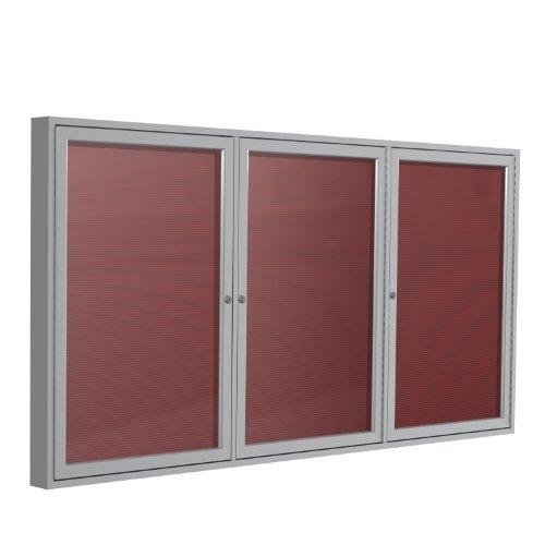 "Ghent 36"" x 72"" 3-Door Satin Aluminum Frame"