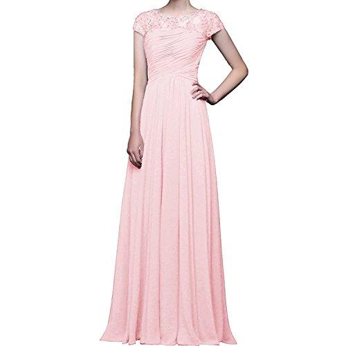 Rosa Promkleider Braut Abschlussballkleider La Blau mit Herrlich Hell Abendkleider mia Ballkleider Brautmutterkleider Kurzarm Navy n0OqO5Fgw