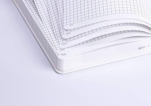 Minimalism Art Premium Edition Notebook Journal, Classic 5 x 8,3 Zoll, Hard Cover, 124 nummerierte Seiten, Ink-Proof Paper 120g (weiß)