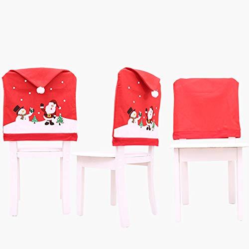 Coprisedia a Forma di Cappello di Babbo Natale 6 Pezzi Firlar
