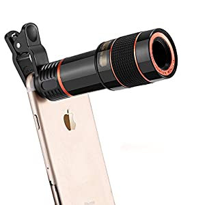 Phone Camera Telescope Camera 12X Optical Manual Focus Universal Clip Suitable iPhone Samsung LG Asus Sony iPad