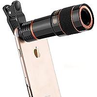 Phone Camera Telescope Camera 12X Optical Manual Focus Universal Clip Suitable iPhone Samsung LG Asus Sony iPad