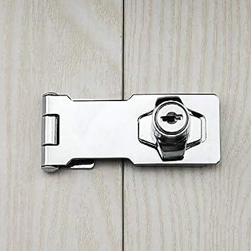 bo/îtes argent meubles Loquet de verrouillage de porte avec cl/é et vis /à 90 degr/és Vogueing Bouton de s/écurit/é pour verrouillage de portes d/'abri de jardin