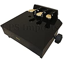 Wood Adjustable Piano Pedal Extender Bench in Ebony with 3 Pedals