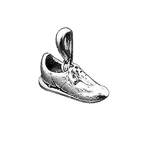 Tennis Shoe Charm Sterling Silver 12.5mm, Silver Shoe Charms, 925 Sterling Silver Charms, Fashion Charms, Tennis Shoe Charms - SP171 (Tennis Shoe Charms)