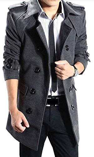 Hommes Trench Boutonnage Vêtements Pour De Kangqi À Gery Double Manteau EZqPng