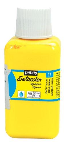 PEBEO Setacolor Opaque Fabric Paint 250-Milliliter Bottle, Lemon