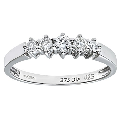 Naava 9ct Gold 0.50ct Diamond Graduated Eternity Ring