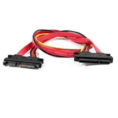 Water Wood Serial ATA SATA 7 15P 22 Pin M F Combo Power Data Adapter Cable Lead 18 Amazoncouk Kitchen Home