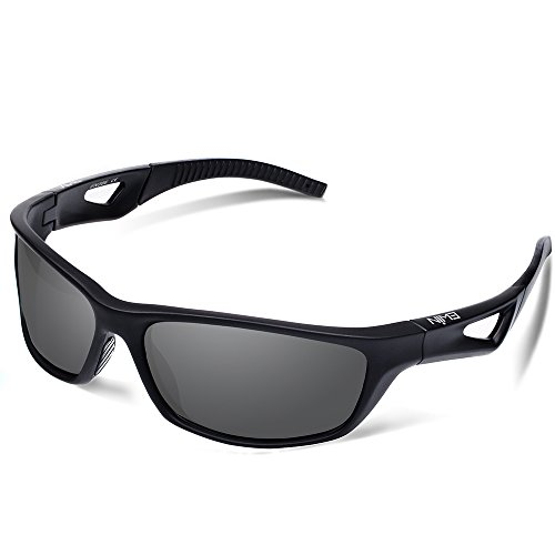 Ewin E51 Polarized Sports Sunglasses, Cycling Glasses with TR90 Frame Baseball Glasses for Men Women - Surfer Sunglasses