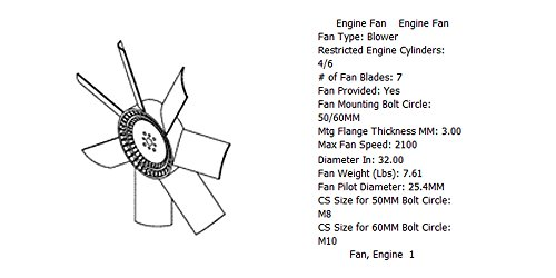 Engine fan 3911328 for diesel engine: