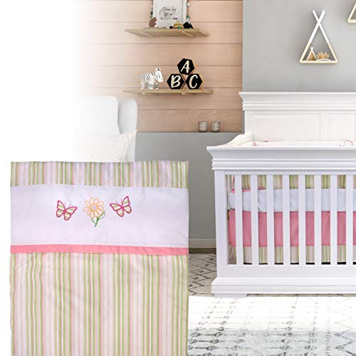 BOOBEYEH & DESIGN 5PCS Bedding for Baby - Butterfly Pattern, Pink and Green