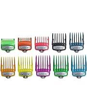 ESTone 2/8/10 storlekar regnbåge färgglad transparent kam universell hårklippare fastsättning guide kammar rakapparat trimmer skärguider för valig elektrisk klippare
