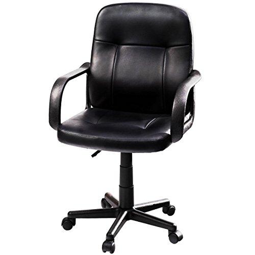 Giantex Ergonomic PU Leather Midback Executive Computer Best Desk Task Office Chair
