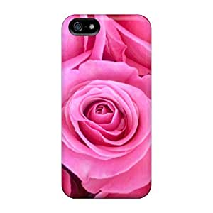 Iphone 5/5s Case Cover - Slim Fit pc Protector Shock Absorbent Case (roses)