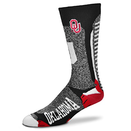 For Bare Feet NCAA-Downtown Socks-Oklahoma Sooners, Large ()