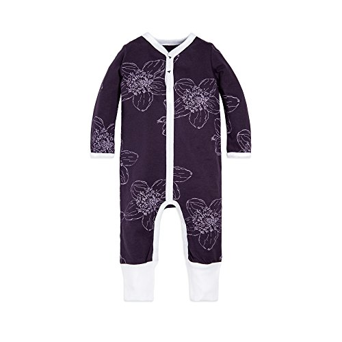 Burt's Bees Baby Baby Girl's Romper Jumpsuit, 100% Organic Cotton One-Piece Coverall, Blackberry Floral 12 Months]()
