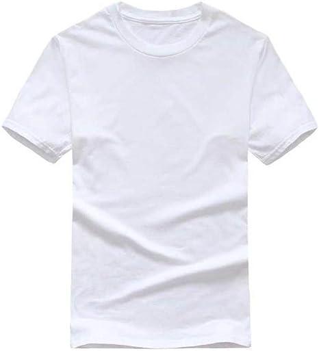 DSHRTY Top de Verano, sólido Camiseta Hombre Blanco y Negro 100% algodón Camisetas Summer tee Boy Tshirt Tops: Amazon.es: Deportes y aire libre