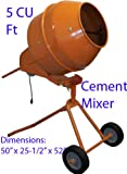 5 Cubic Feet Tall Portable Cement Concrete Mixer