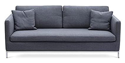 Amazon.com: Contemporary Sofa with Stainless Steel Base ...