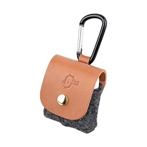 Richbud AirPods Case Leather Cover Keychain (Saddle Brown)