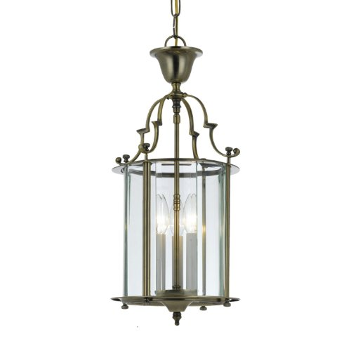 Camden Outdoor Wall Lantern - Gold Coast Lighting Solid Antique Brass Clear Beveled Lantern