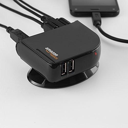 AmazonBasics 7 Port USB 2.0 Hub with 5V/4A Power Adapter